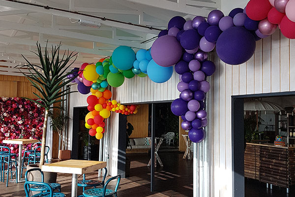 Balloon Garland Multi Coloured Balloons Perth Kwinana