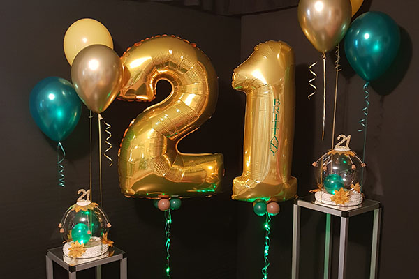 Birthday Helium Foil Number Balloons Led Kwinana Perth