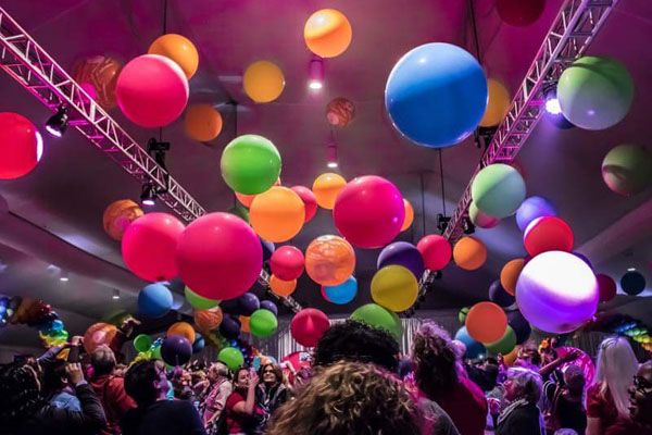 Disco Balloon Party Kwinana Perth Coloured Balloons