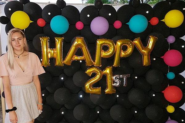 Happy 21st Birthday Party Balloons Perth Kwinana