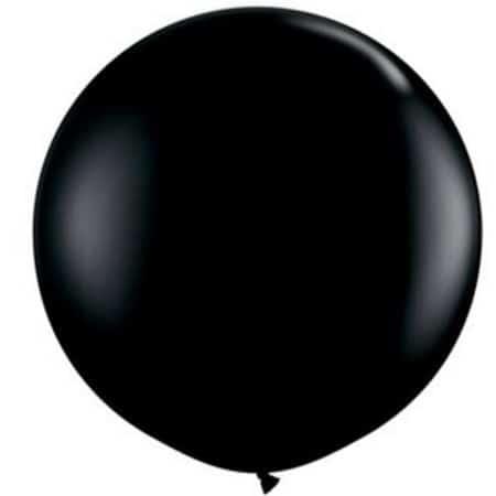 3ft Black Standard Balloon