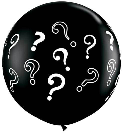 3ft Question Marks Latex Balloons