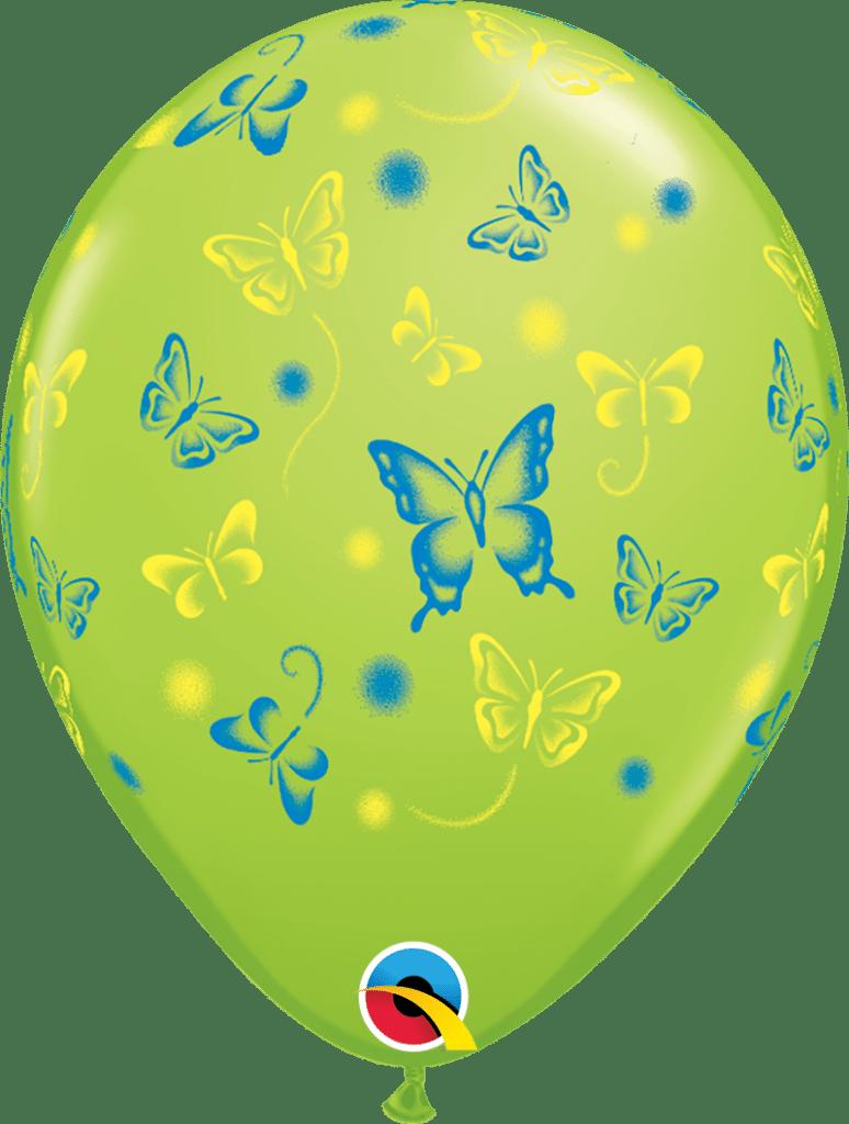 Butterflies Line Green