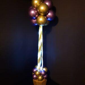 Lightitup Topiary Column ( Chrome Gold & Chrome Purple )
