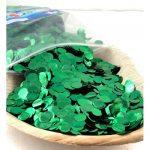 Confetti Metallic 1cm Green