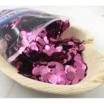 Confetti Metallic 1cm Rose Gold