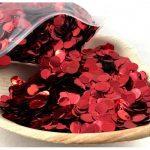 Confetti Metallic 1cm Red
