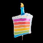 Rainbow Cake & Candle