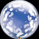 Deco Bubble Baby Footprints