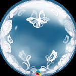 Deco Bubble Elegant Roses & Butterflies