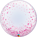 Deco Bubble Pink Confetti