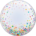 Deco Bubble Rainbow Confetti