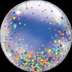 Deco Bubble Rainbow Confetti