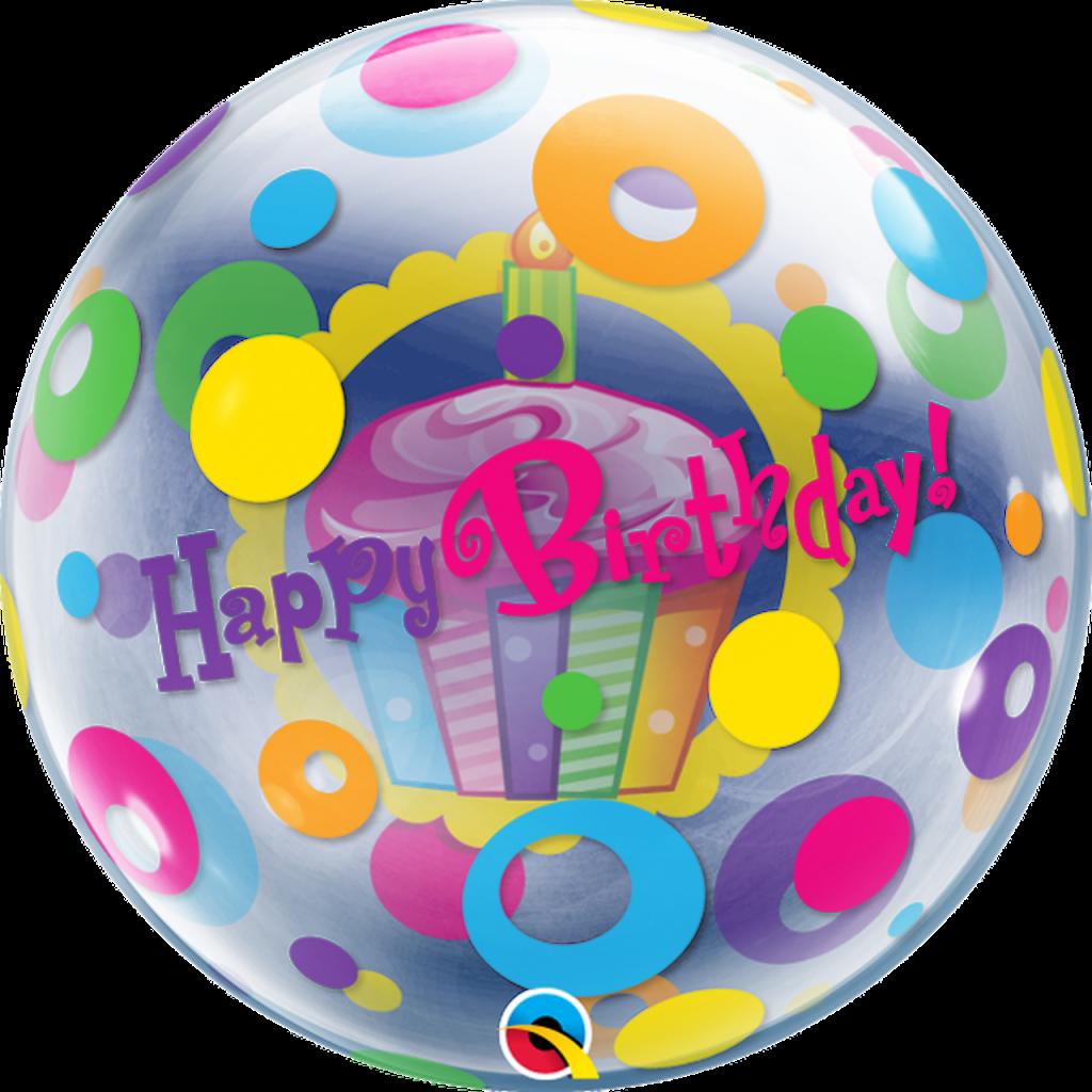 Birthday Cupcake & Dots