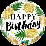 Birthday Golden Pineapple