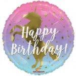 Birthday Unicorn Silhouette