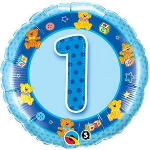 1st Birthday Blue Teddies