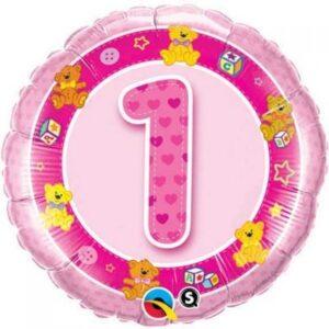 1st Birthday Pink Teddies