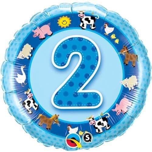 2nd Birthday Blue Farm Animals