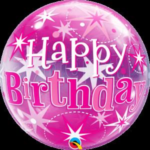 Birthday Pink Starburst Sparkle
