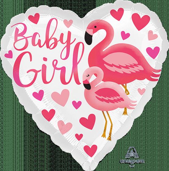 Flamingo Baby Girl Heart