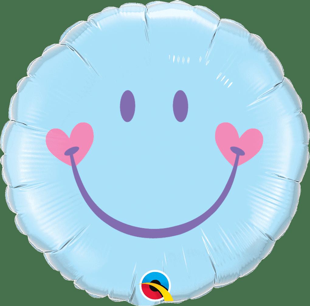 Sweet Smile Face Pale Blue