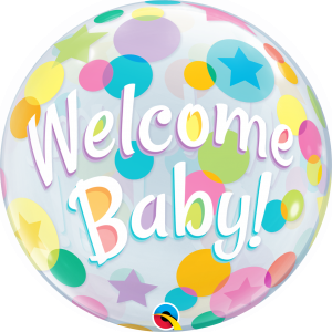 Welcome Baby Colorful Dots