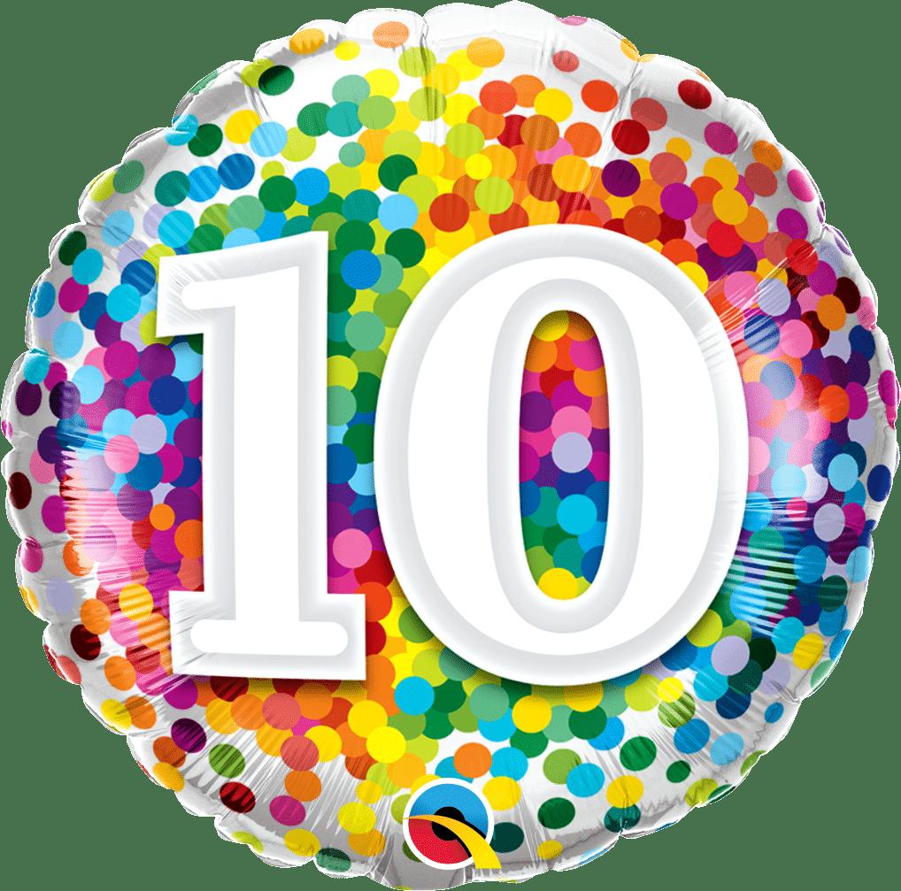 10 Rainbow Confetti