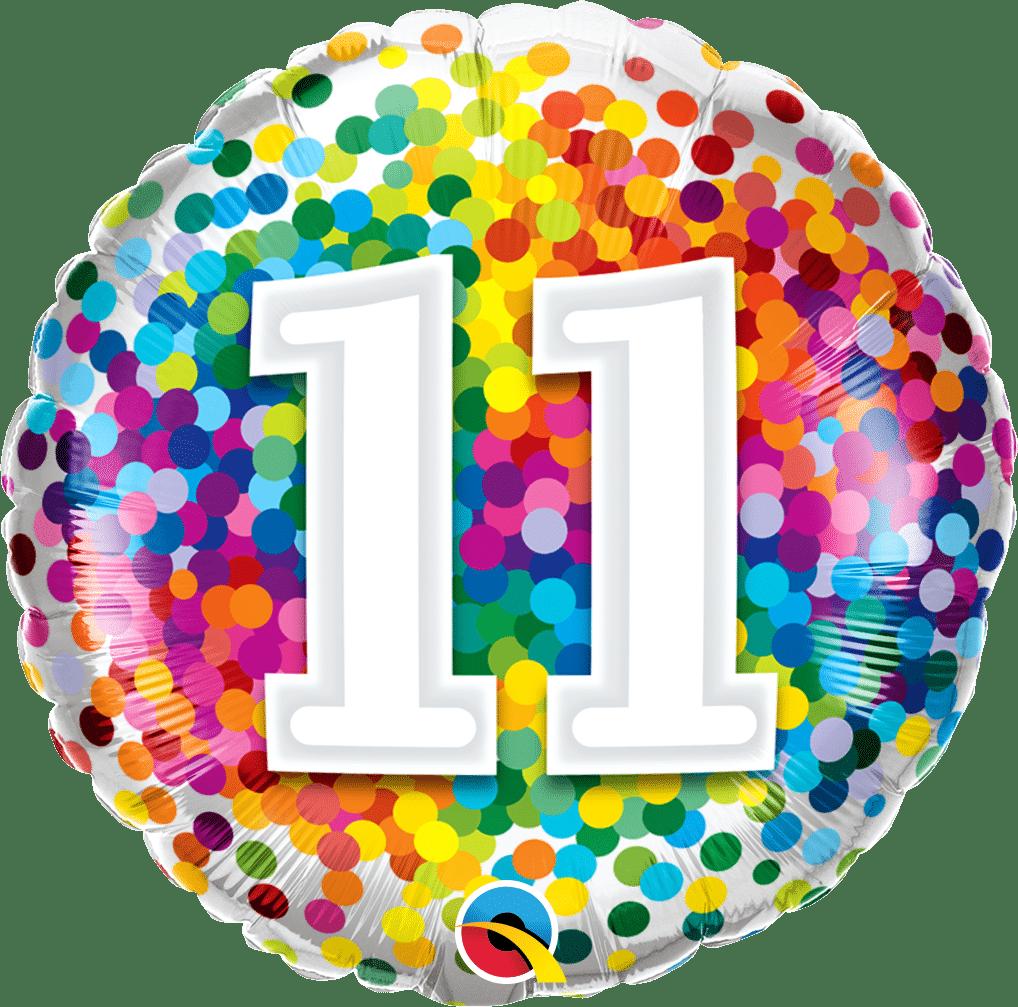 11 Rainbow Confetti