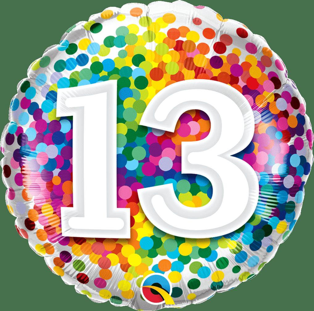 13 Rainbow Confetti