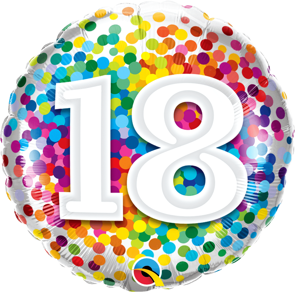 18 Rainbow Confetti