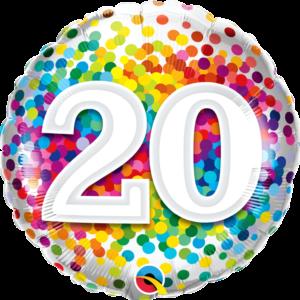 20 Rainbow Confetti