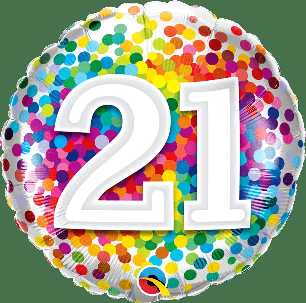 21 Rainbow Confetti