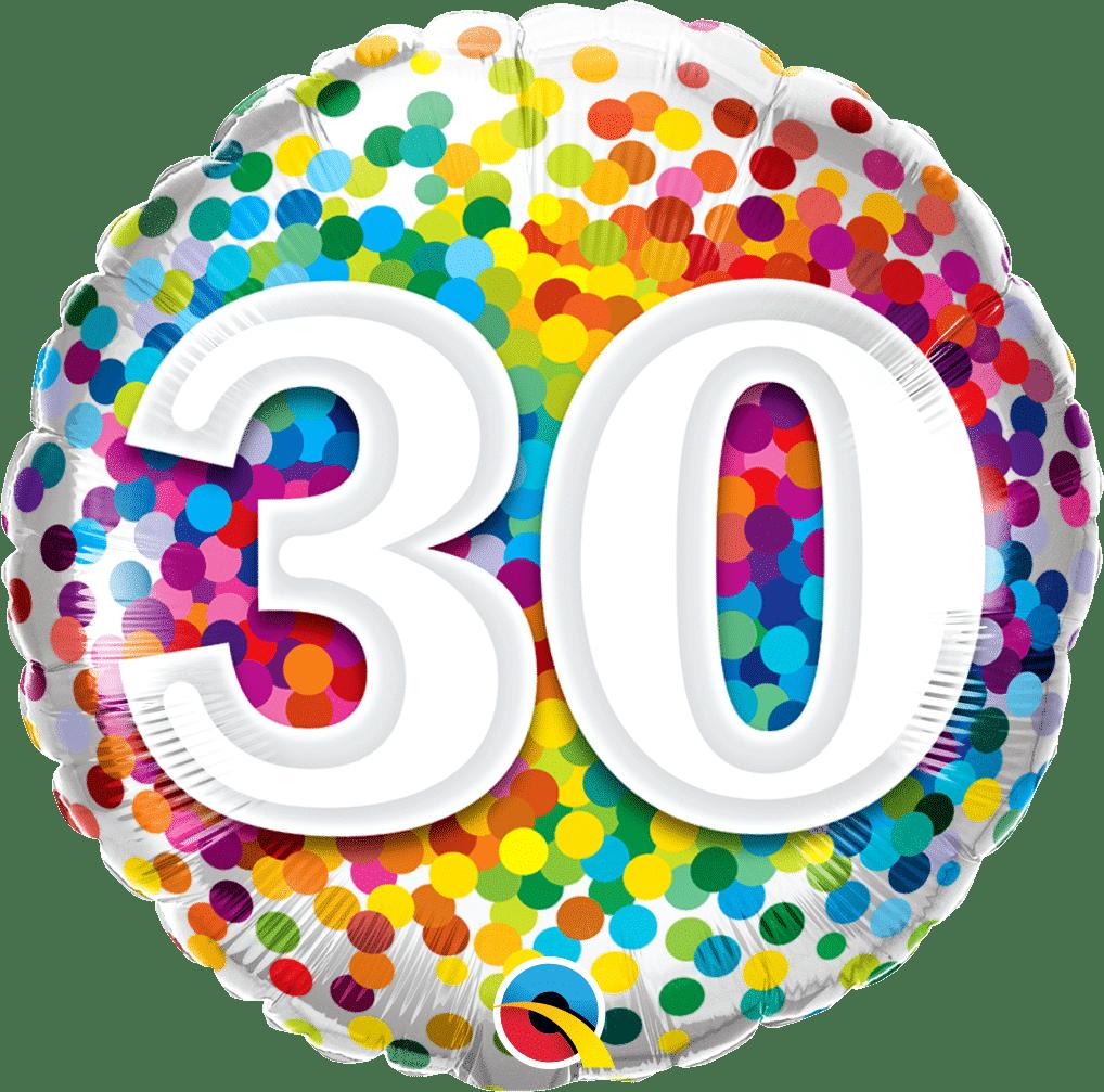 30 Rainbow Confetti