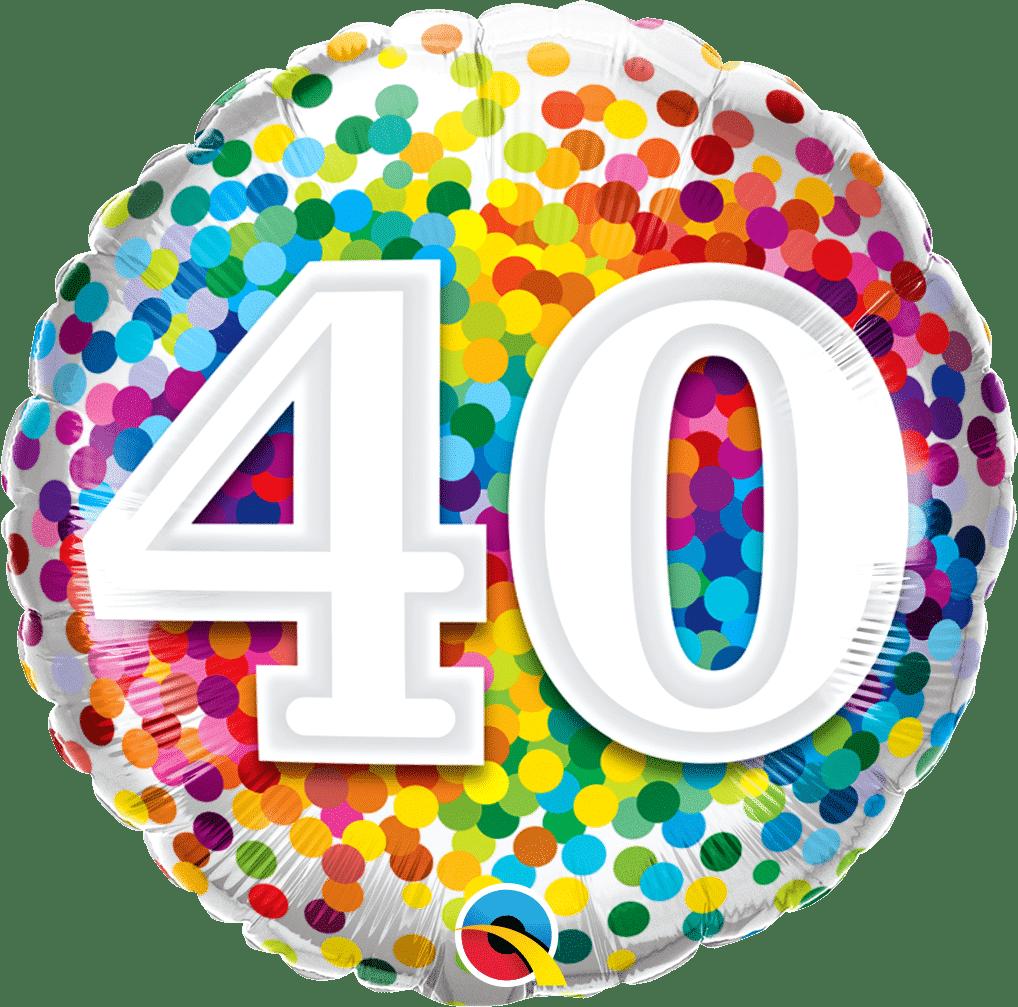 40 Rainbow Confetti
