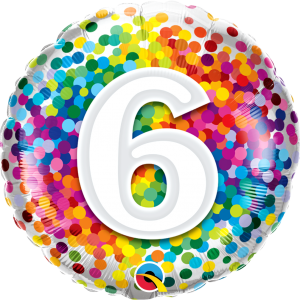 6 Rainbow Confetti