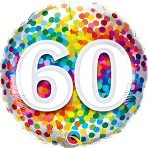 60 Rainbow Confetti