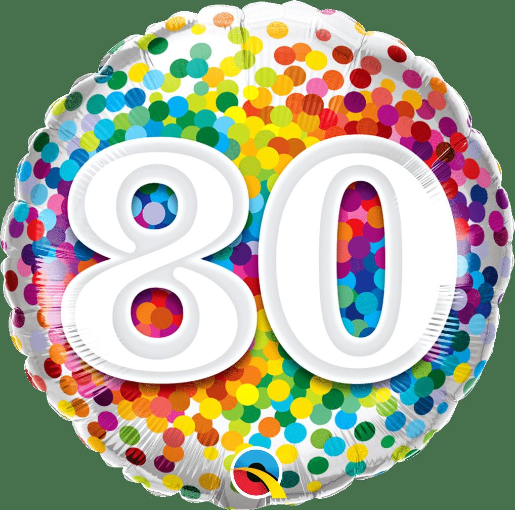 80 Rainbow Confetti