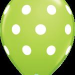 Big Polka Dots Linr Green