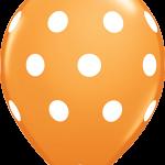 Big Polka Dots Orange