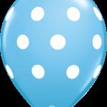 Big Polka Dots Pale Blue
