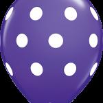 Big Polka Dots Purple Violet