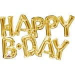Happy B\\\'day Scripted Gold