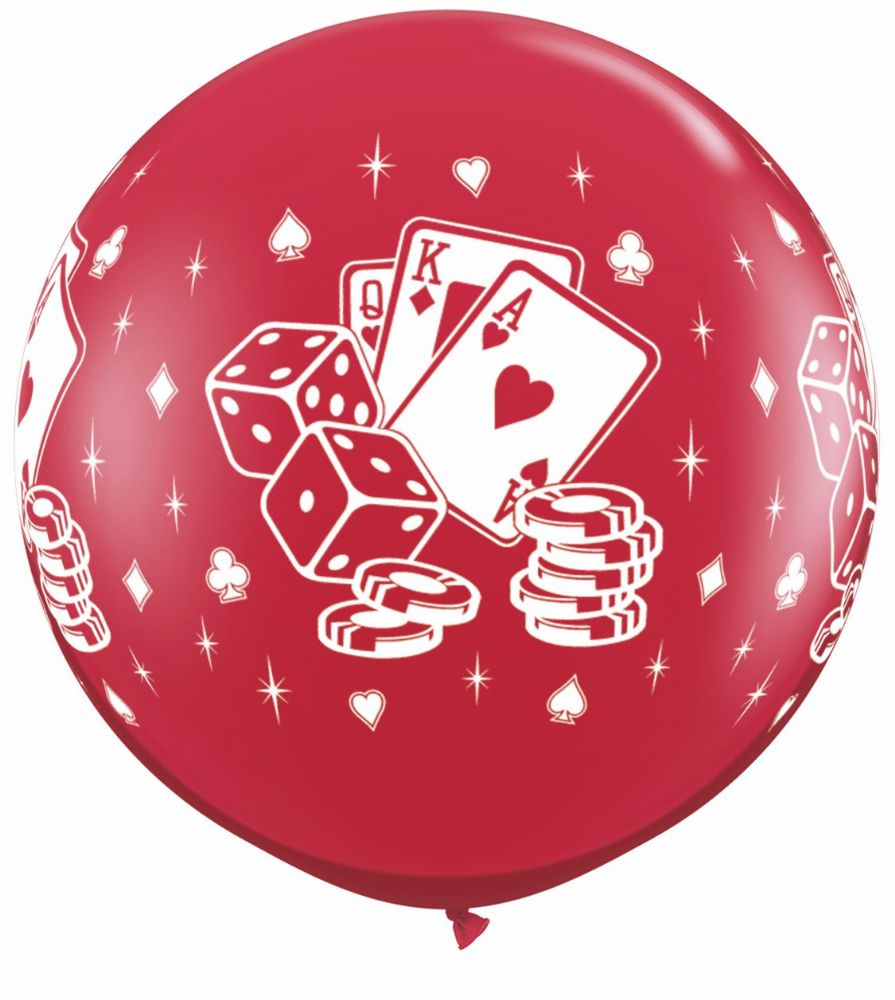 Casino Dice & Cards Red