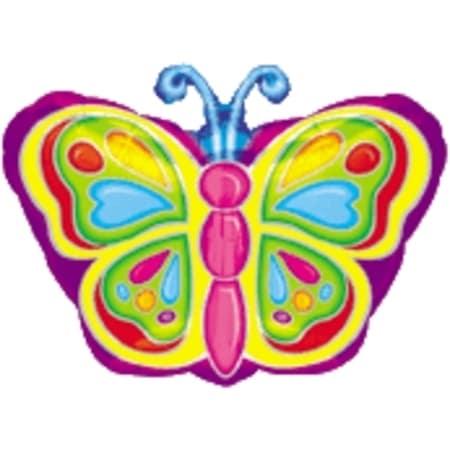Bright Butterfly Jr. Shape Foil Balloon