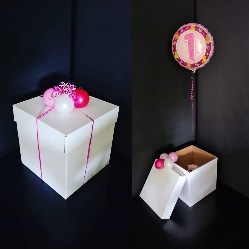 Gift Box Single Balloon