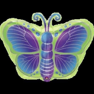Kiwi Butterfly Jr. Shape Foil Balloon
