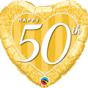 Happy 50th Damask Heart