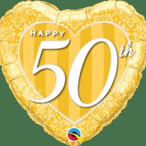Happy 50th Damask Heart