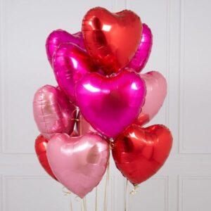 Mixed Love Heart Foils